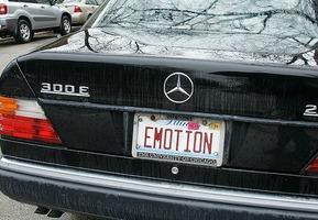 Emotions license plate